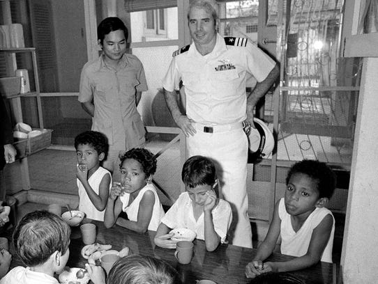 U.S. Navy Cmdr. John S. McCain III, a guest of the