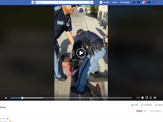 A video posted to Facebook shows an El Paso Police