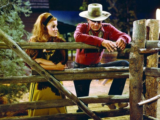 Alex Cord and Ann-Margret in Stagecoach, 1966