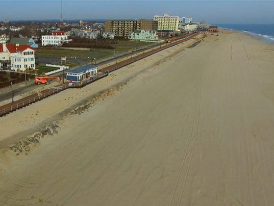 MUST SEE: A drone's view of the new Long Branch boardwalk