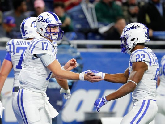 Daniel Jones Paces Duke To Quick Lane Bowl Win Over Northern Illinois