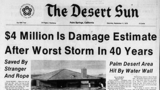 Sept. 11, 1976 issue of the Desert Sun.