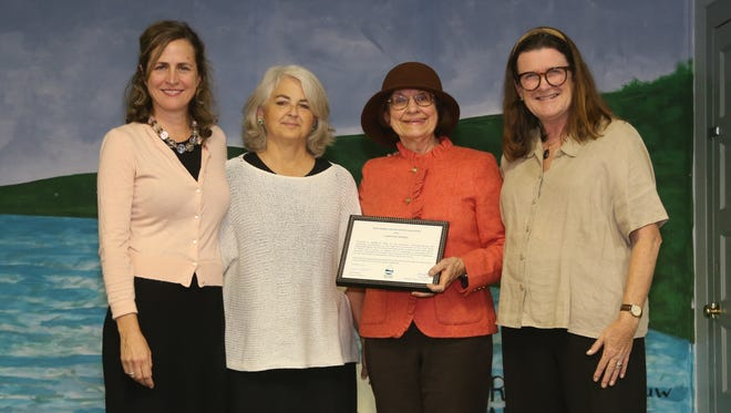 From left: Alison Mitchell, Michele Byers and Wilma Frey, all of New Jersey Conservation Foundation, and Julia Somers of the NJ Highlands Coalition.