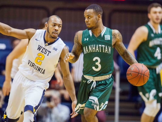 NCAA Basketball: Manhattan at West Virginia