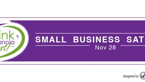 Small Business Saturday will be held Nov. 28.