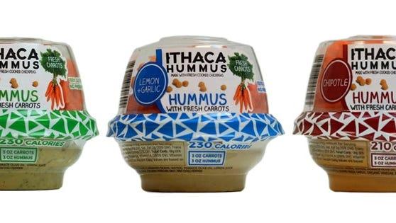 Ithaca Hummus's new Grab + Go Packs.