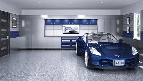 An example of a garage outfitted by Garage Living, which will open in Sioux Falls later this year.