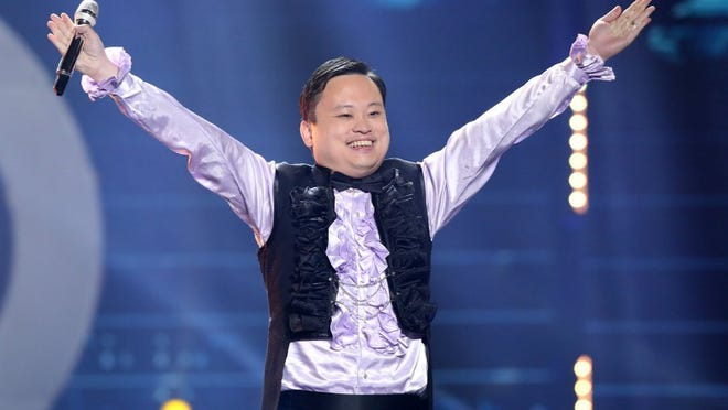 William Hung performs at the 'American Idol' farewell season finale at the Dolby Theatre on Thursday, April 7, 2016, in Los Angeles.