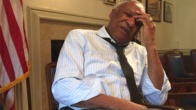 Mayor Ernie Davis was back at Mount Vernon City Hall on Tuesday after pleading guilty to federal charges that he willfully failed to file tax returns.