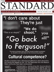 A portion of the Oct. 28, 2014, front page from The