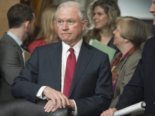 Sen. Jeff Sessions attends a Senate Environment and