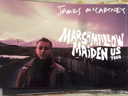 Check out James McCartney when he heads to The Mothlight on March 26.