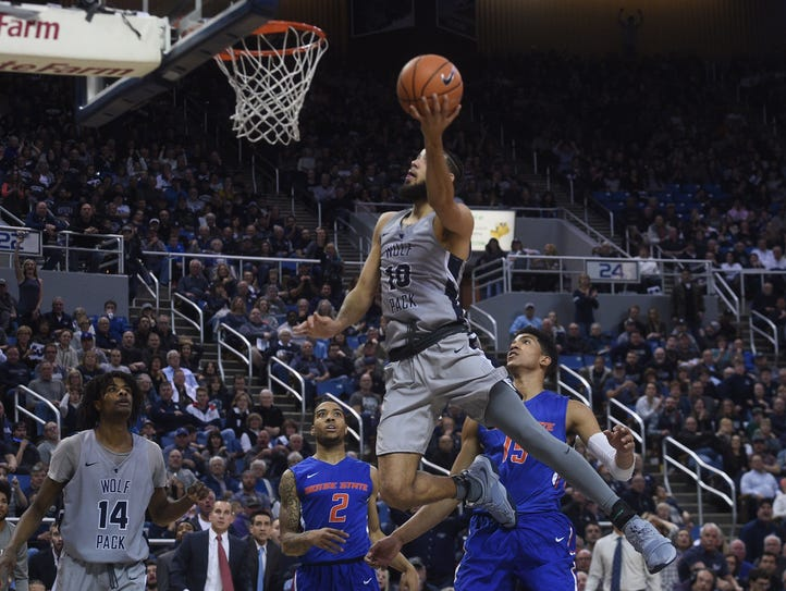 Nevada takes on Boise State during their basketball