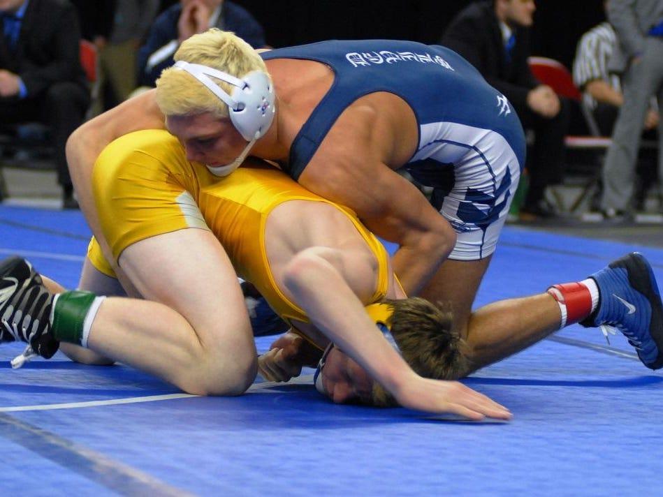 Richmond's Devin Skatzka won his fourth straight state wrestling title this past season.