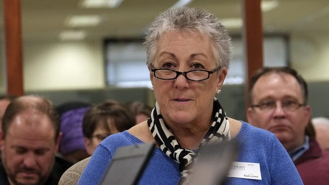 Teresa Severy, a counselor from DeWitt Public Schools, speaks during a State Board of Education hearing on LGBT guidelines in schools.