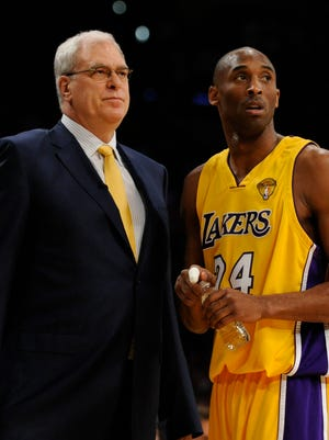 Kobe Bryant and Phil Jackson won five titles together for the Lakers from 2000 to 2010.