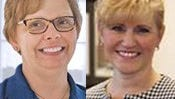 On the left: Pennie Zuercher, nominee for the chief financial officer position at Brevard Public Schools  On the right: Carol Kindt, nominated to serve as Brevard Public Schools' deputy superintendent of human resources
