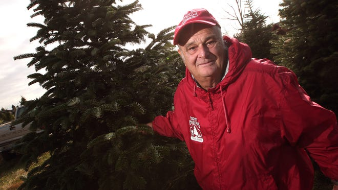 John Curtis of Phillipsburg, co-owner of the Perfect Christmas Tree Farm with his wife, Cynthia, earned first-place honors for a Fraser fir tree in statewide competition sponsored by the New Jersey Christmas Tree Growers Association.