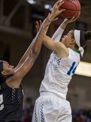 FGCU's Whitney Knight soars over Wake Forest defender