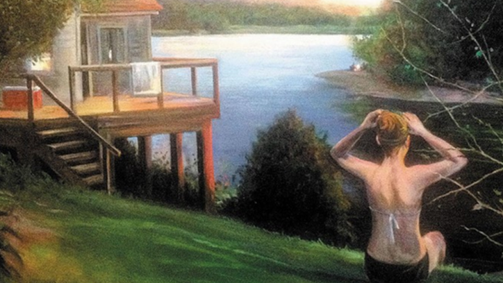 Part of John Deering's 'Arkansas Traveler' art exhibit