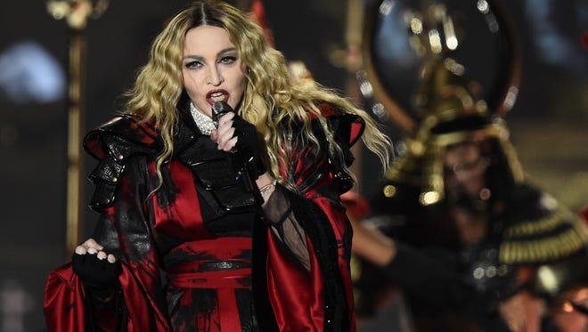 Madonna performs during her 'Rebel Heart' tour in Berlin on Nov. 10. The singer's latest album, 'Rebel Heart,' was not nominated for 2016 Grammy Awards.