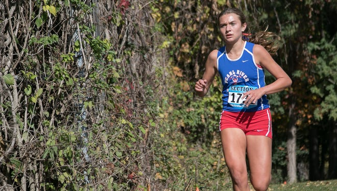 Mary Borkoski of Pearl River competed in the Section 1 High School Coaches Cross Country Invitational at Bowdoin Park in Wappingers Falls on Saturday, October 17, 2015.