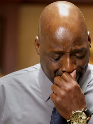 Floyd Dent, 57,  recounts the beating he endured by Inkster Police to the media at his attorney's office in Novi today.