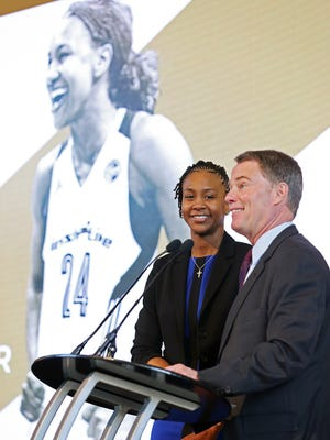 Tamika Catchings was honored earlier this  year by Indianapolis Mayor Joe Hogsett.
