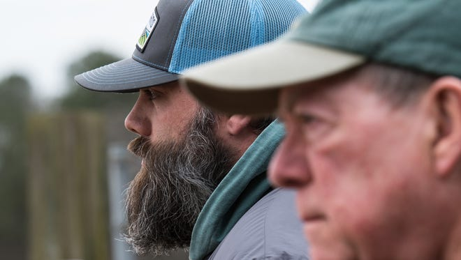 Andy Holloway and his father Robert talk about their new property on North West Road on Tuesday, Feb. 6, 2018.