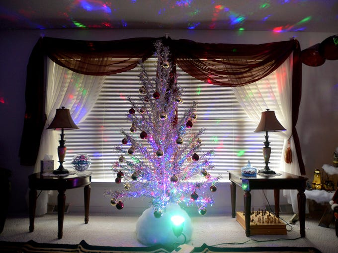 Rene Murray's aluminum Christmas Tree.