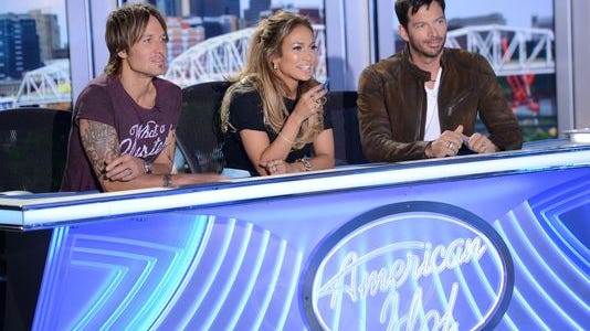 "The judging panel on ""American Idol"""