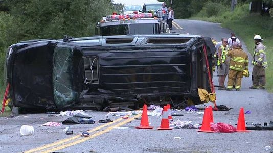 The SUV that flipped and rolled over on Goosepond Road in, killing three teenagers. An unlicensed Pleasantville girl, then 15, who was the driver was recently sentenced as a juvenile in the case.