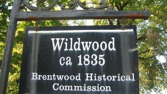 This marker at Wildwood mansion is visible on the Holt property along Crockett Road.