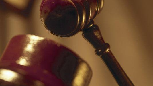 A file photo of a gavel in a courtroom. Brian Malone, of Sparks, was sentenced to up to 45 years in prison for burglary, theft, and fraud charges.