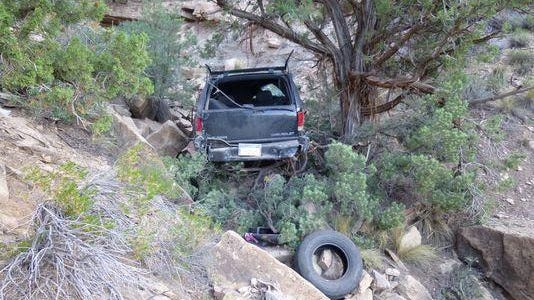 A fatal one-car accident was reported near Toquerville Falls