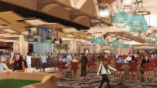 A rendering of Lago Resort & Casino, being built in Tyre, Seneca County. A group of Seneca County residents have filed a lawsuit against public officials and the developers of a casino claiming the project got inappropriate financial incentives.