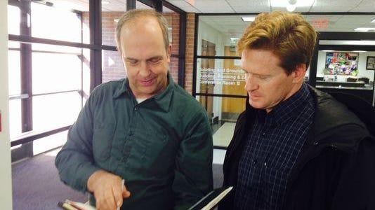 Robert Romanowski, left, and Michael Parietti, who challenged Ramapo ward system vote.