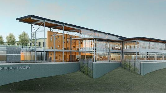 A conceptual design of what a new Appleton Public Library could look like.