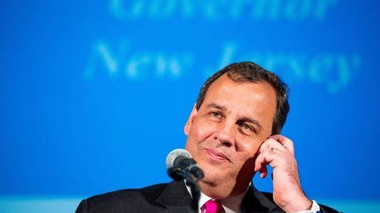 New Jersey Gov. Chris Christie speaking at the Latino Coalition Business Summit in Washington on June 10