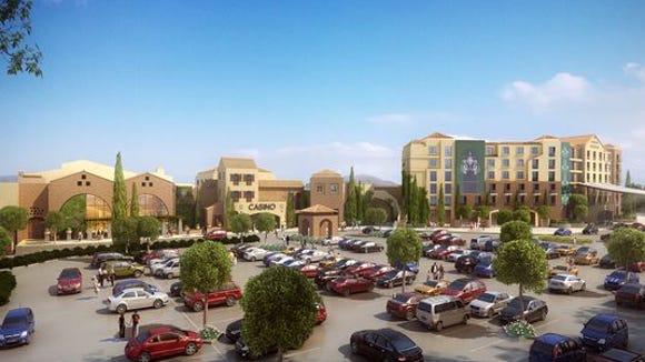 Rendering of the proposed casino in Seneca County.