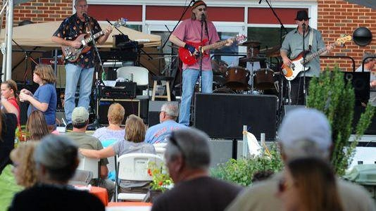 Pure Blind Luck performs at the Virginia Chili, Blues n Brews Festival in downtown Waynesboro in 2012.
