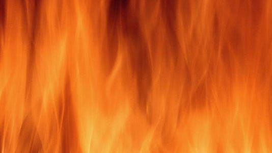Wildfire in marsh of Escambia River