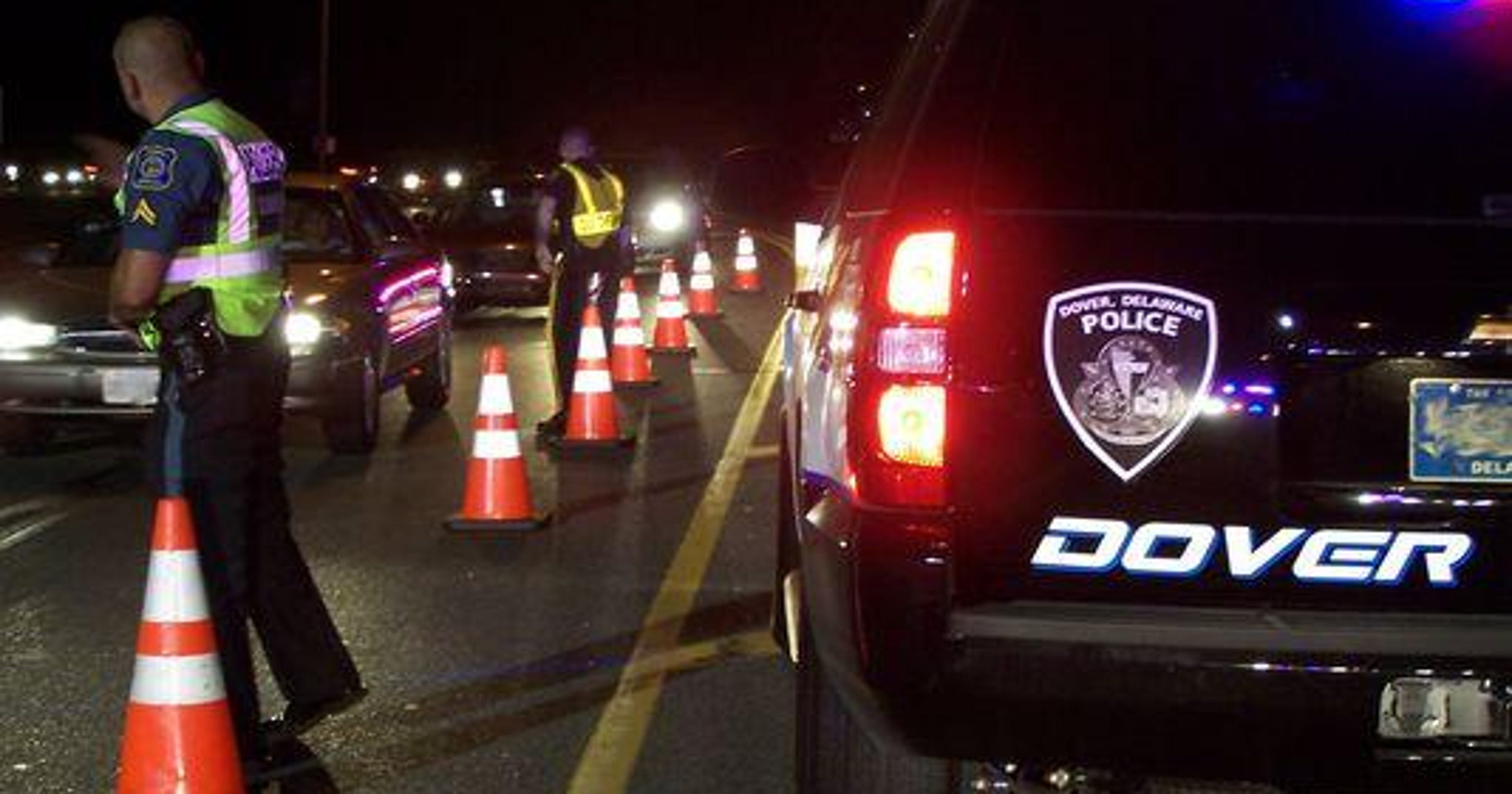Delaware DUI checkpoints slated for Saturday