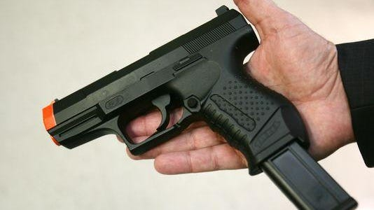 A toy handgun.
