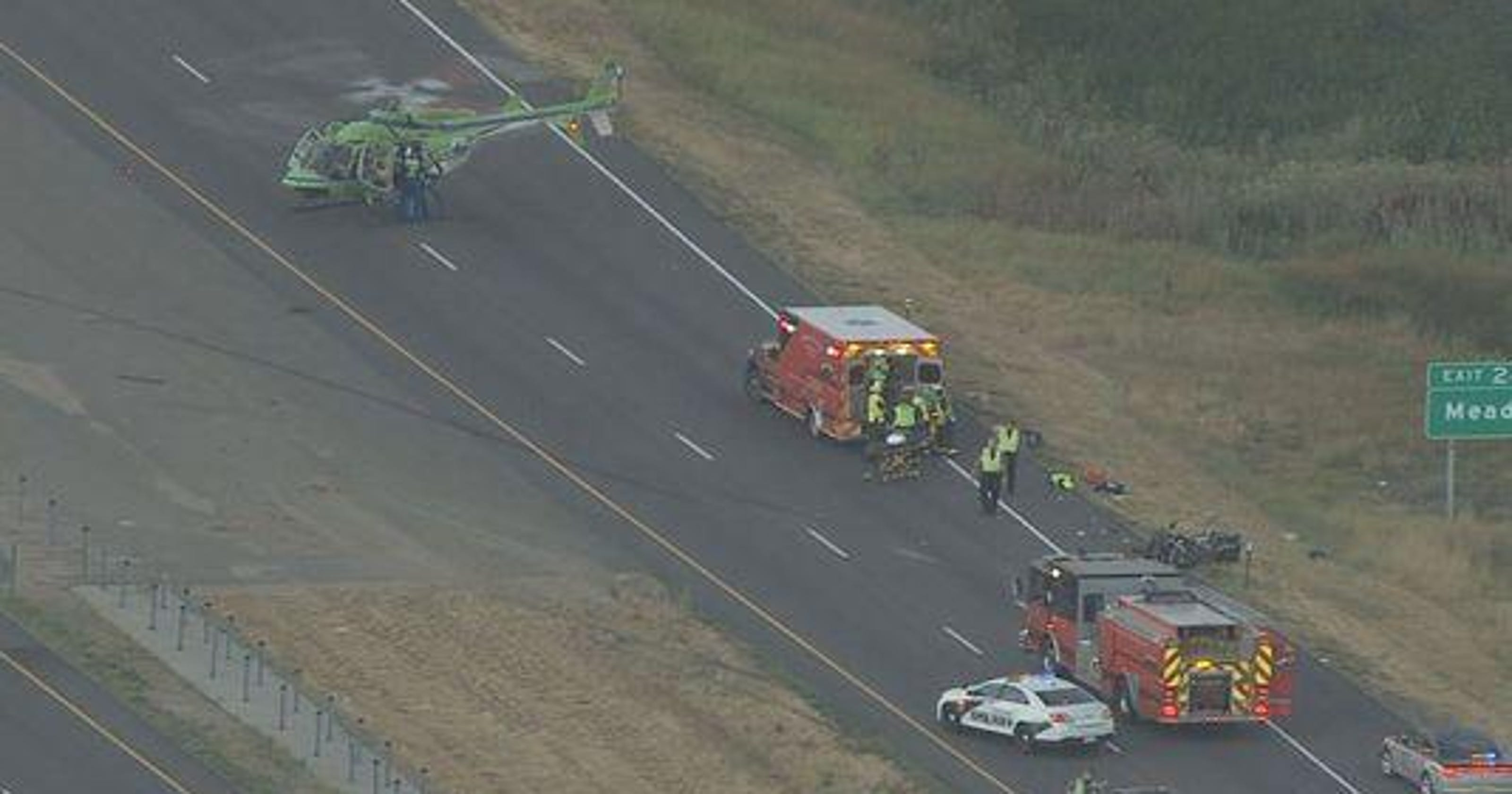 Fatal crash near Highway 66 closes I-25