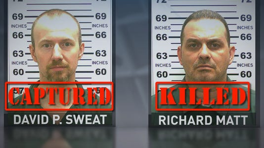David Sweat and Richard Matt led police on a three-week manhunt.