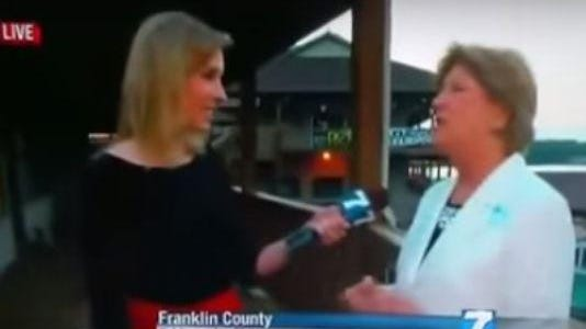 Shots rang out seconds after this live interview by a WDBJ crew n Franklin County, Va.