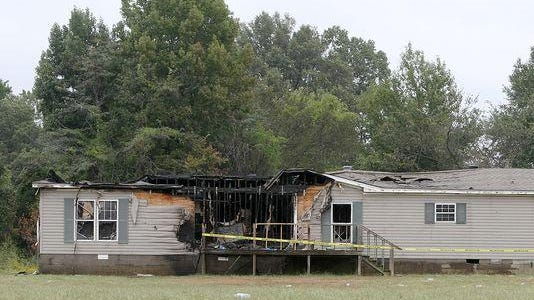 Arson damaged a home on Persimmon Grove Road in Trenton, authorities said.