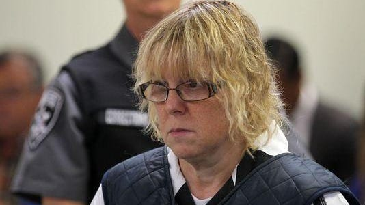 Joyce Mitchell appears before Judge Mark Rogers in Plattsburgh, N.Y., City Court for a hearing.