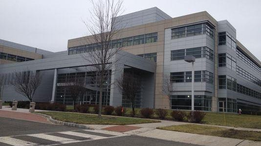 The entrance to the  new global headquarters of the Honeywell Corp. in Morris Plains.